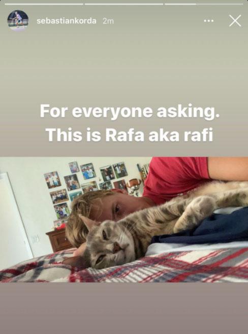 Korda cat Rafael Nadal