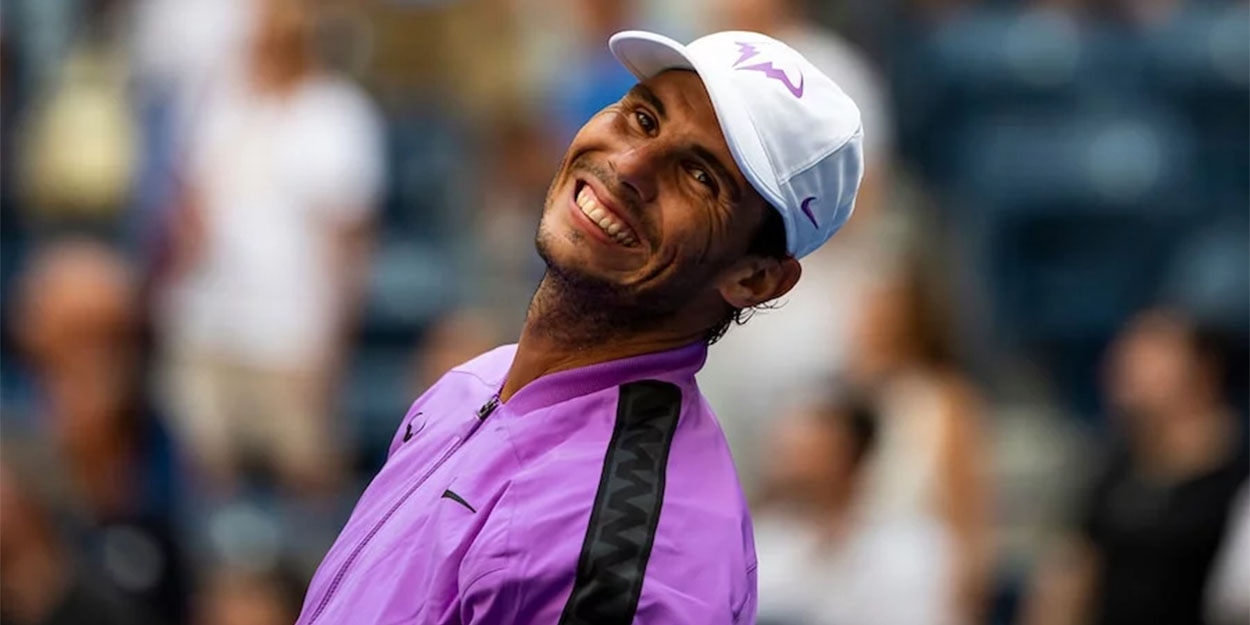 Rafa Nadal laughing