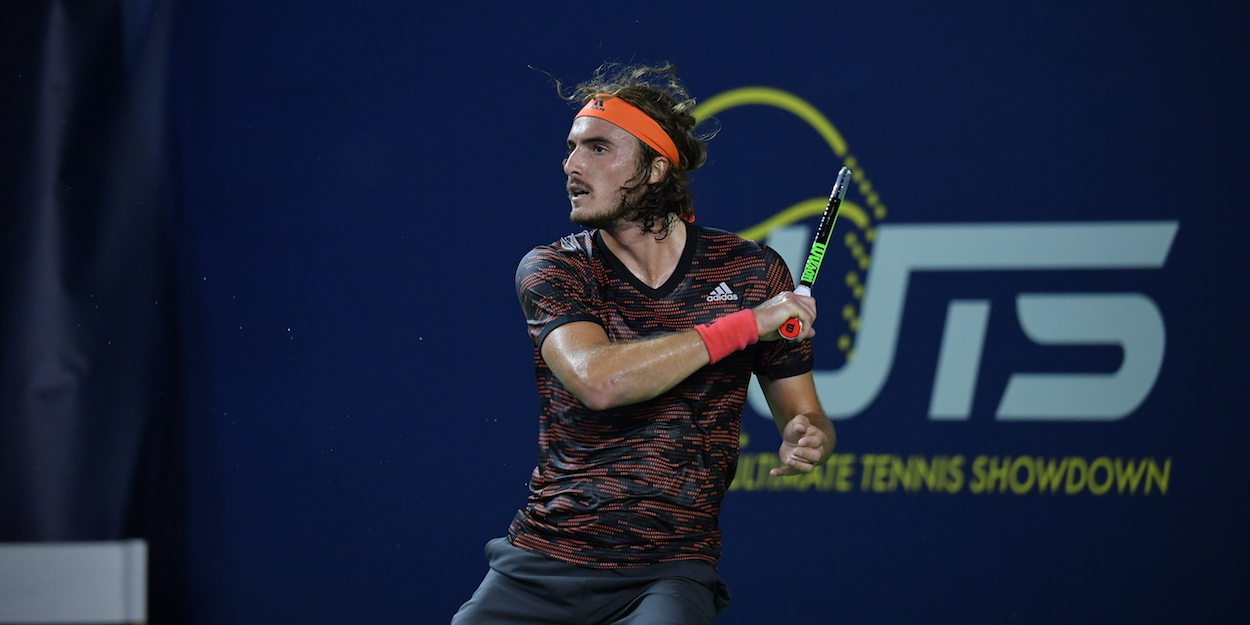 Stefanos Tsitsipas plays at the UTS organised by Mouratoglou