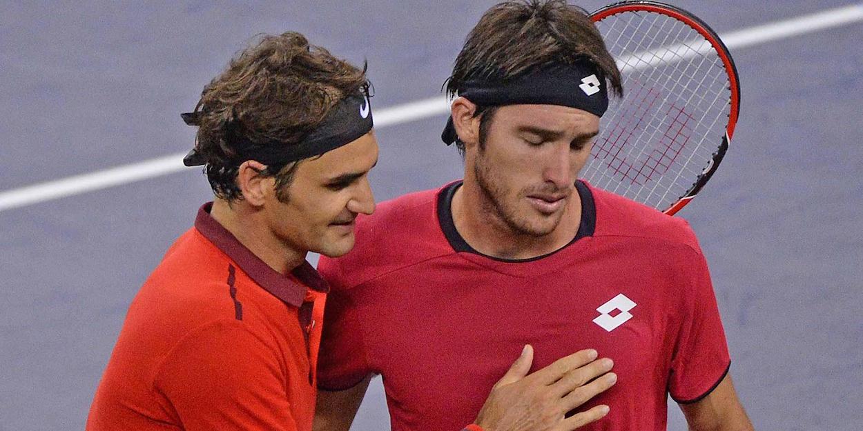 Federer beats Mayer Shanghai Masters 2014