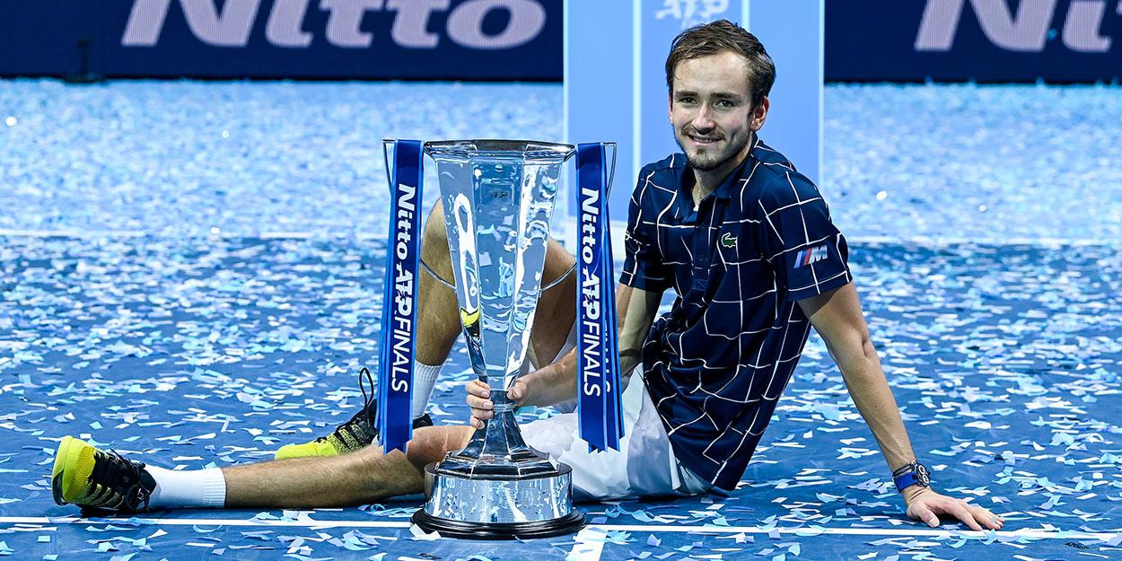 Daniil Medvedev ATP Finals trophy