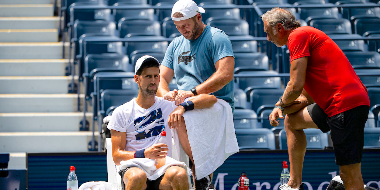 Djokovic and Panichi at US Open 2019