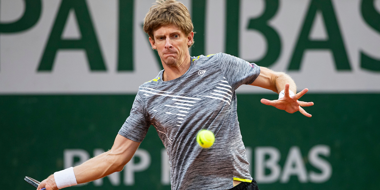Kevin Anderson French Open forehand 2020
