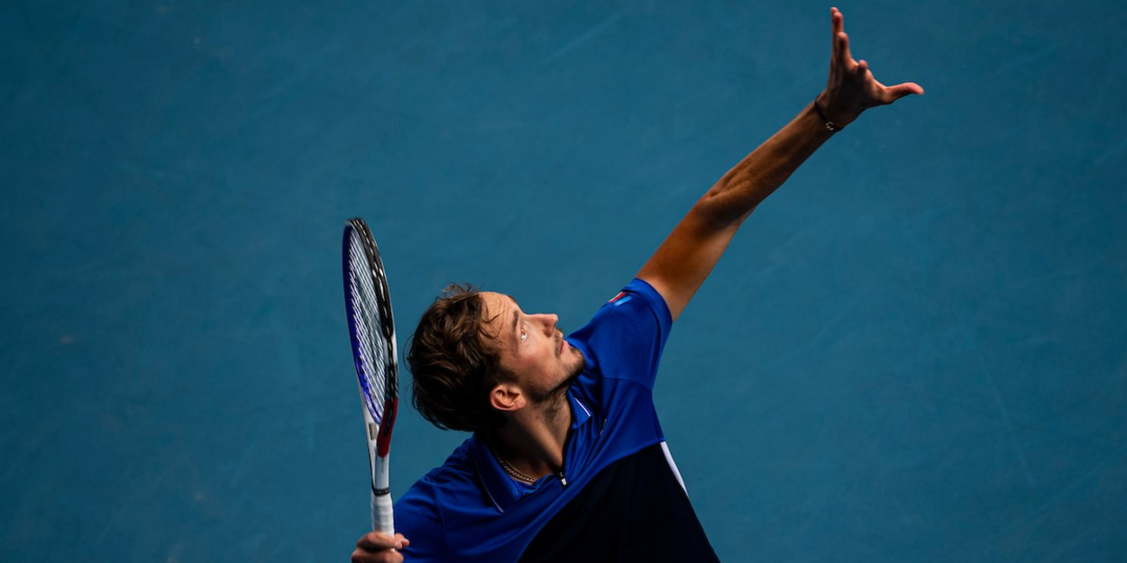 Medvedev competes at Australian Open 2020