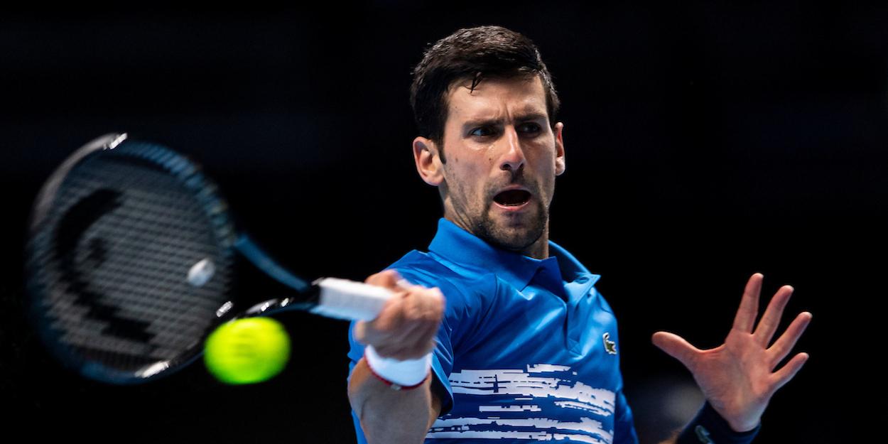Novak Djokovic ATP Finals 2019