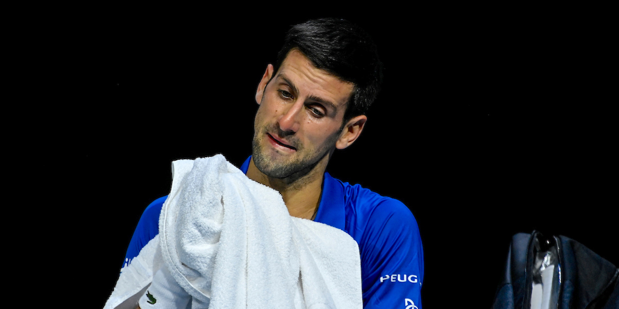 Djokovic looks concerned at ATP Finals