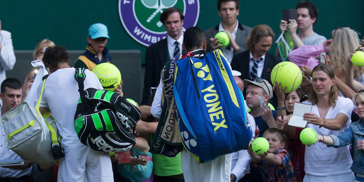 Rafa Nadal at Wimbledon with Nick Kyrgios