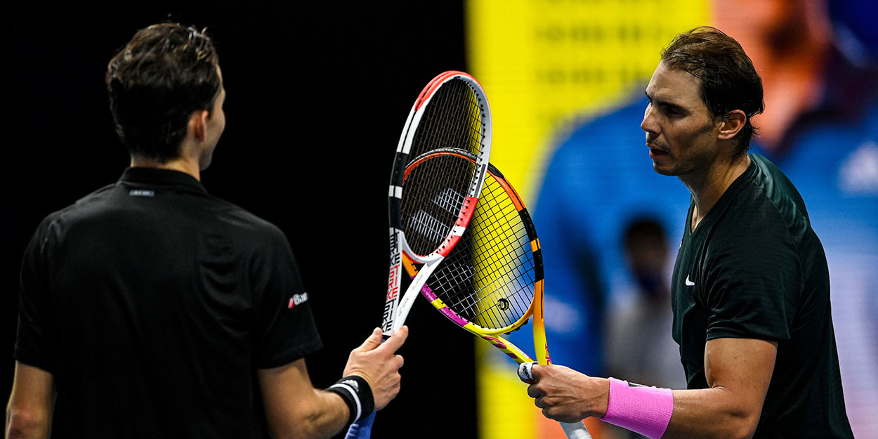 Rafael Nadal and Dominic Thiem ATP Finals