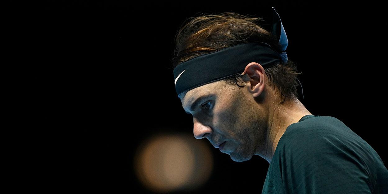 Rafael Nadal looking down