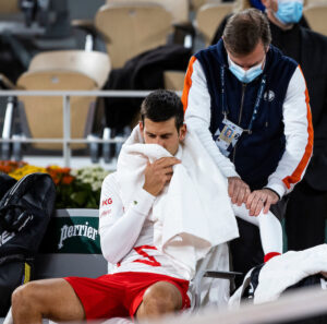 Carreno Busta was not impressed when Djokovic had on-court treatment at the French Open