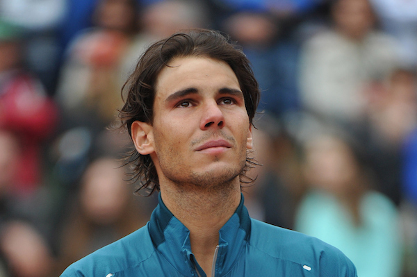 Nadal shows emotion at French Open 2013