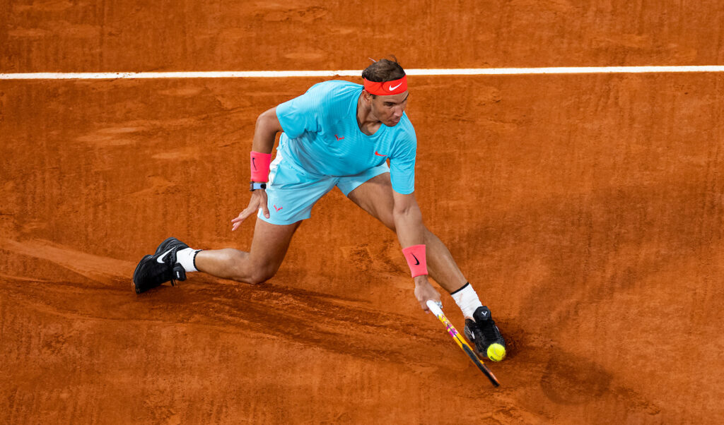 Rafa Nadal hugs trophy at French Open 2020