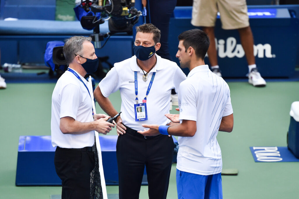 Djokovic was defaulted at the US Open 2020