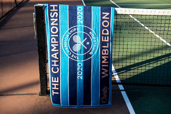 Wimbledon 2020 guest towel from Christy.co.uk