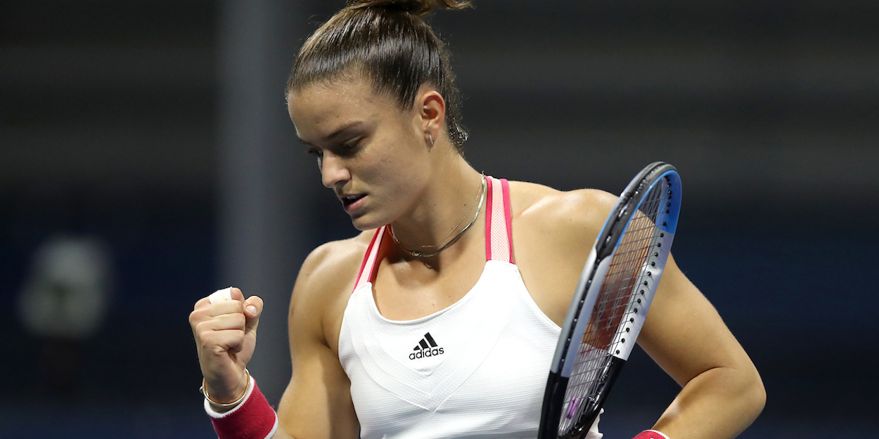 Maria Sakkari clenches fist at US Open 2020