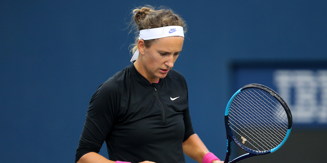 Victoria Azarenka clenches fist at US Open 2020