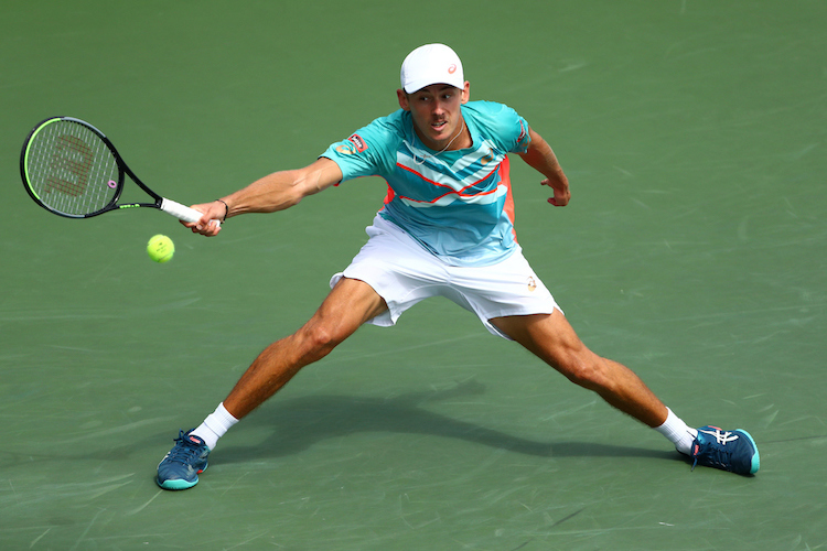 Alex de Minaur is renowned for his movement and agility around the court