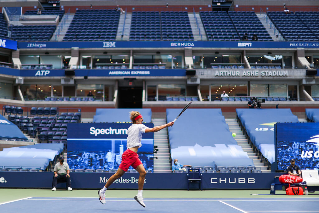 Tennis tournament organisers will be hoping they can avoid a total ban on spectators such as was seen at last year's US Open
