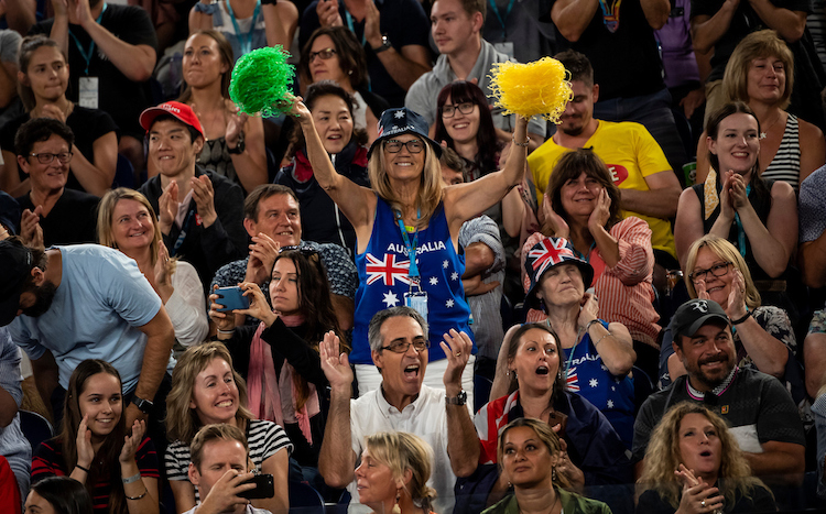 There will be no packed crowds like this at the Australian Open this year