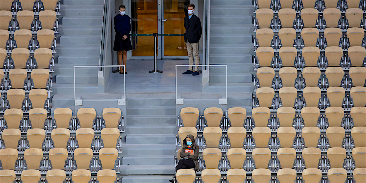 French Open tennis 2020 had to deal with COVID reducing spectator number