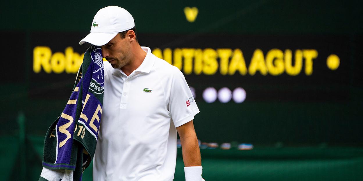 Roberto Bautista Agut at Wimbledon 2019