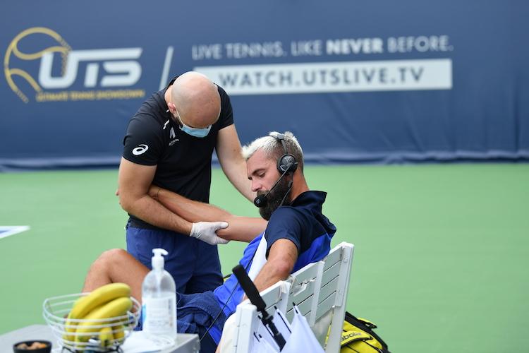 Benoit Paire UTS on court coaching