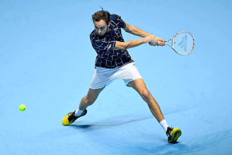 On a roll: Daniil Medvedev won all 5 of his matches on his way to victory at the 2020 ATP Finals
