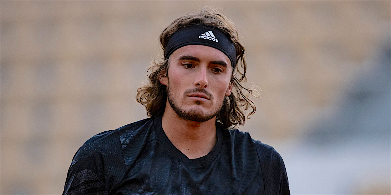 Stefanos Tsitsipas at the French Open 2020