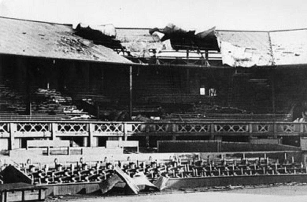A German bomb landed on Centre Court in 1940