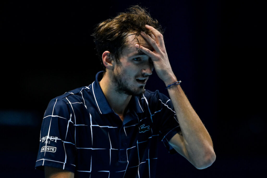 Daniil Medvedev won the point when he used an underarm serve against Alexander Zverev at the Nitto ATP Finals in London