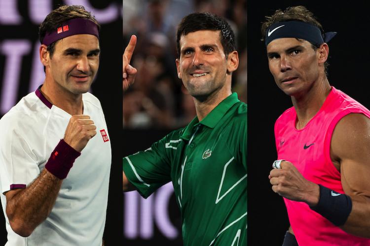 Nadal Federer Djokovic for the GOAT race