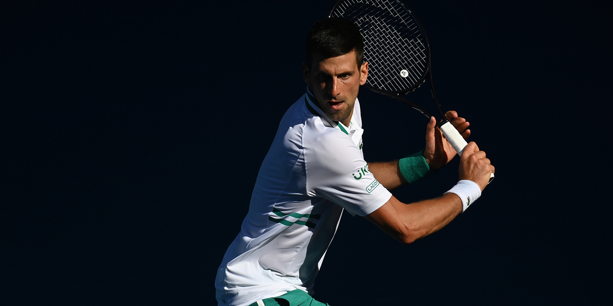 Novak Djokovic backhand Australian Open