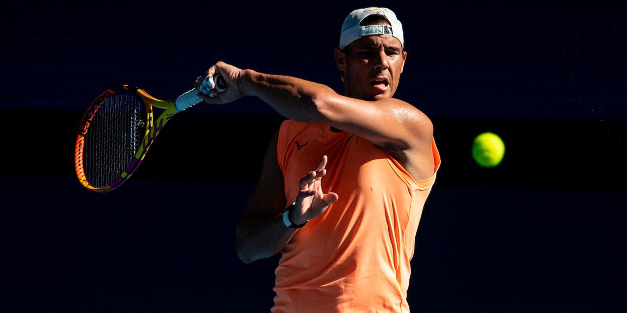 Rafael Nadal practice Australia 2021