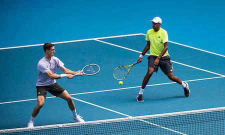 Joe Salisbury and Rajeev Ram on their way to the 2020 Australian Open mens doubles title