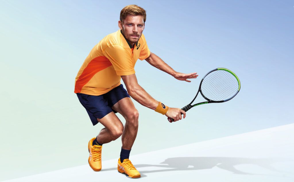 David Goffin wears his ASICS Solution Speed 2 trainers