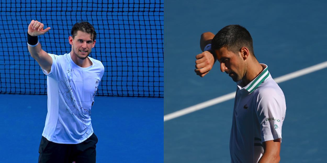 Thiem Djokovic Australian Open 2021