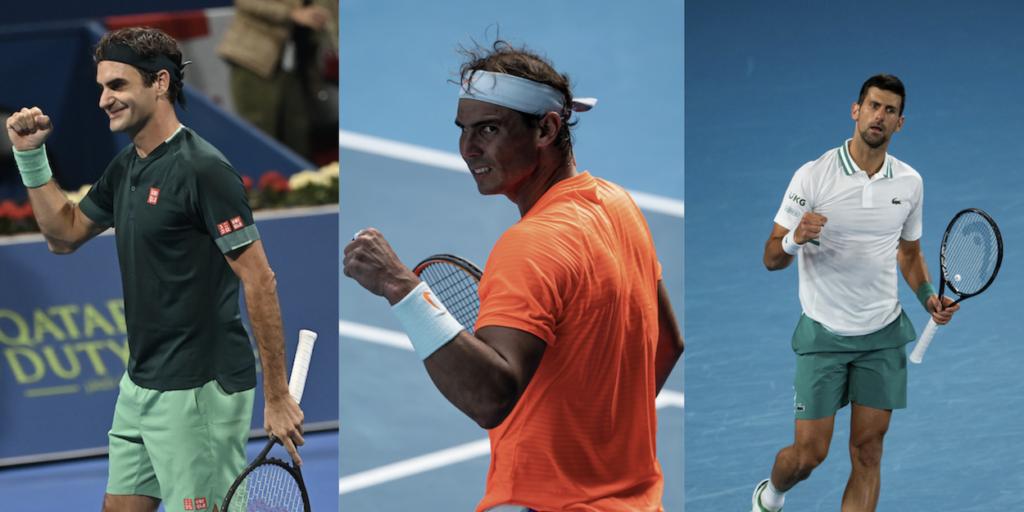 Roger Federer Rafa Nadal Novak Djokovic Big Three