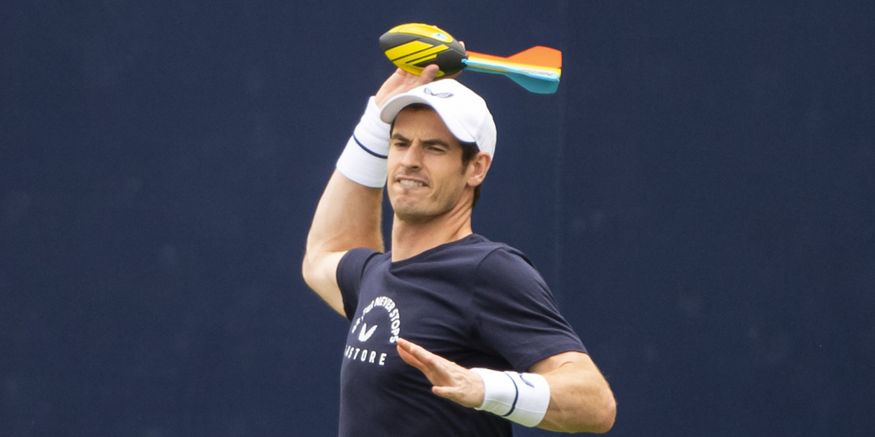 Andy Murray warms up Queens 2019