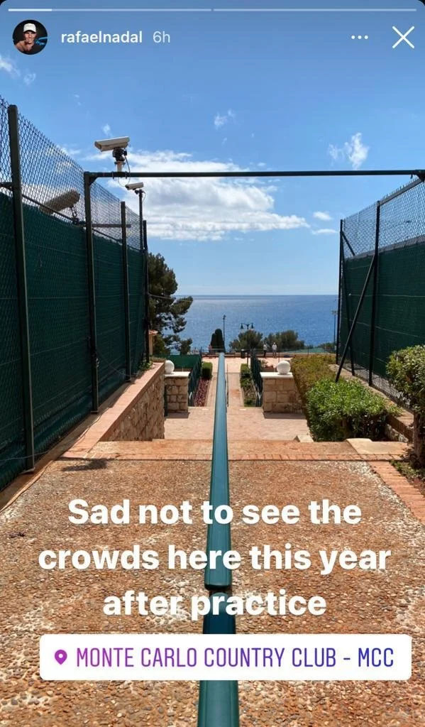 Rafael Nadal Monte-Carlo Instagram