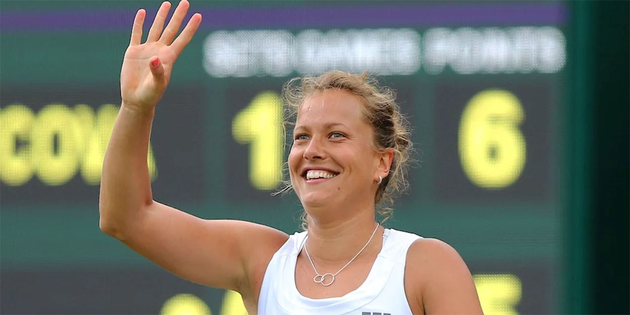 Barbora Strycova at Wimbledon