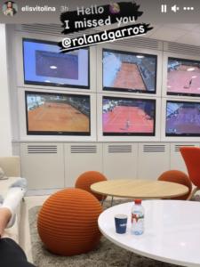 Elina Svitolina watching qualifying French Open 2021