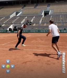 Daniil Medvedev practice French Open 2021