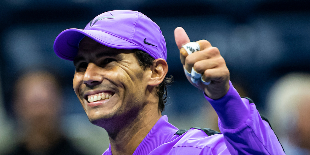 Rafael Nadal smiles US Open 2019