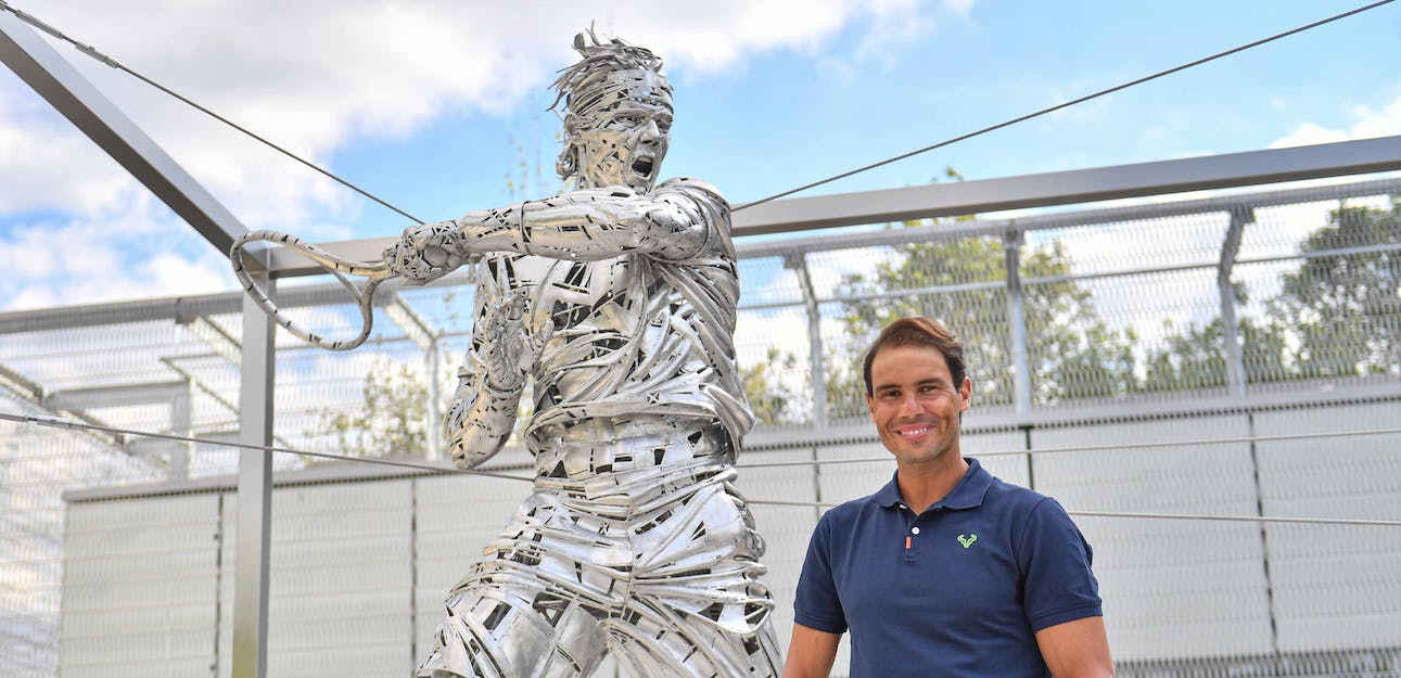 Nadal statue French Open 2021