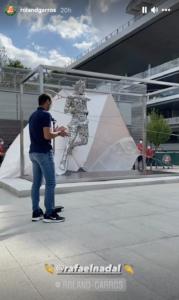 Rafael Nadal statue French Open 2021