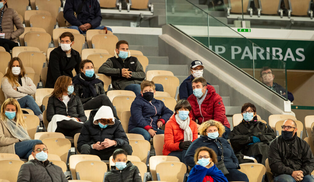 Fans at French Open 2020