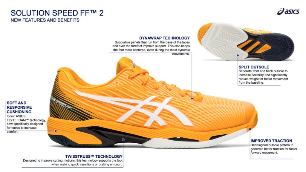 ASICS Solution Speed FF 2 Technical slide