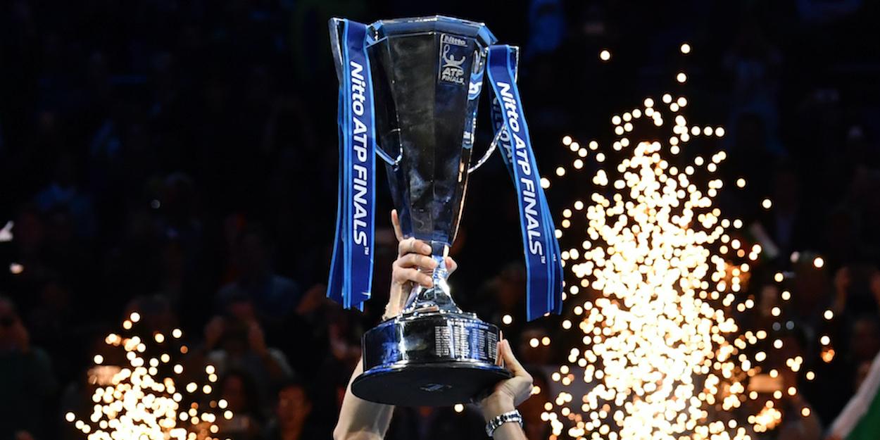 ATP Finals trophy held aloft