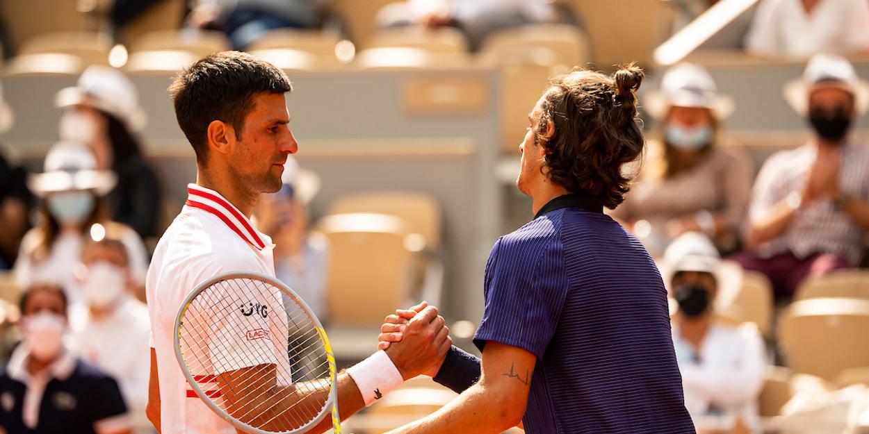 Djokovic Musetti French Open 2021