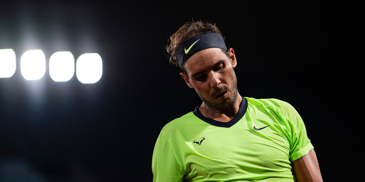Rafael Nadal sad French Open